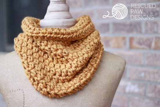 Crochet One Hour Cowl Free Pattern