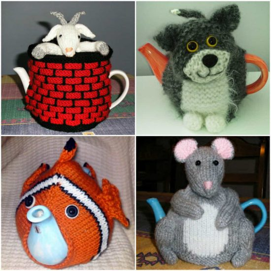 Animal Knitted Tea Cozies Free Patterns