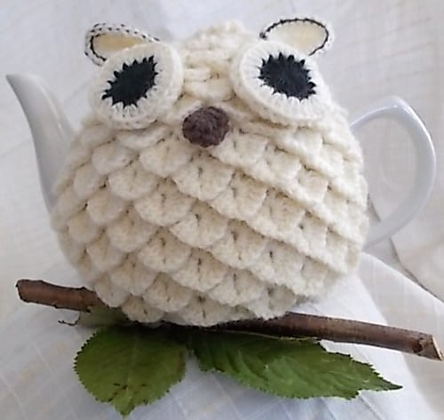 Crocodile Stitch Owl Crochet Pattern