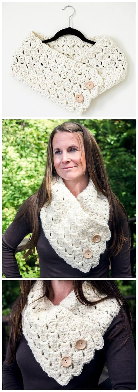 Cross Hatch Button Up Cowl