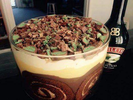 Debs Baileys and Chocolate Trifle