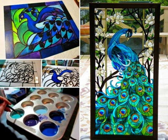 Popular Stained Glass Projects Using 2 Ingredients | The WHOot TE56