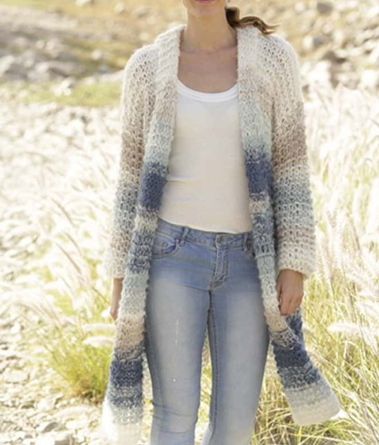 Knitted Long Line Jacket Free Pattern