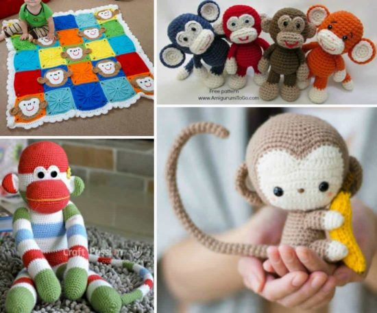 Monkey Crochet Free Patterns