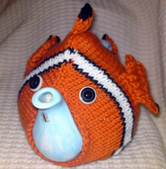 Nemo Knitted Tea Cozy Free Pattern