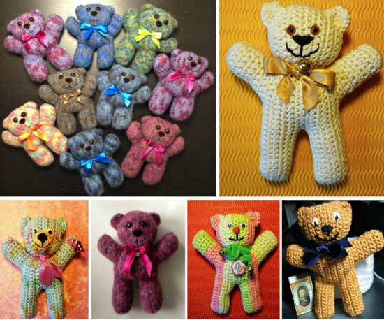 One Ball Yarn Teddy Made in one piece - free crochet pattern