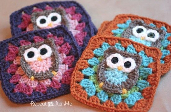 Owl Granny Square Afghan Pattern