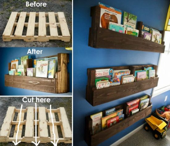 Pallet Shelf on bar shelves
