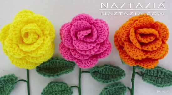 Rose Bouquet Free Crochet Tutorial
