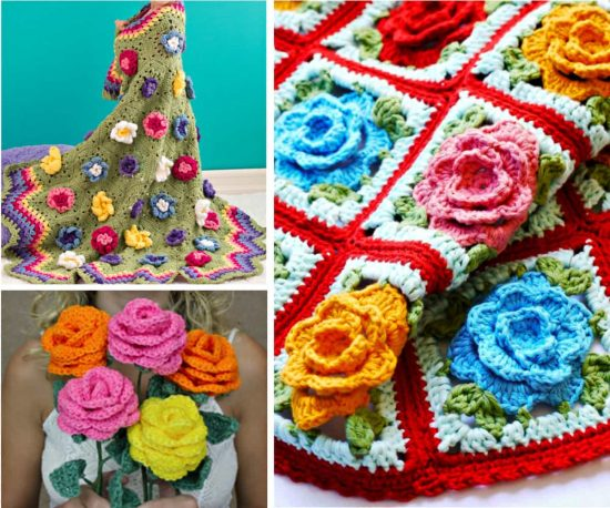 Rose Free Crochet Patterns