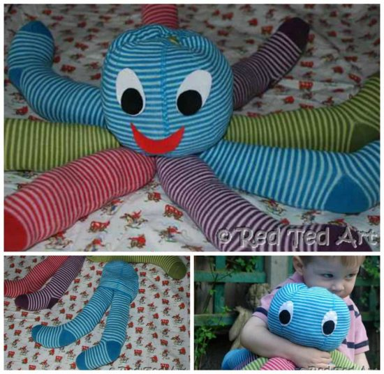 Stuffed Octopus Made With Tights