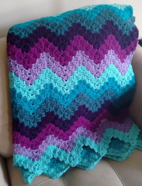 Rainbow Ripple Crochet Blanket Pattern Video Tutorial