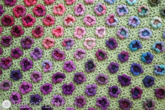 Monet's Garden Throw crochet pattern