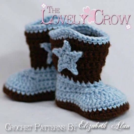 Baby Boot Scoot'n Boots Crochet Pattern