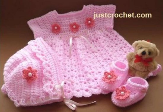 Baby Crochet Dress Outfit Free Pattern