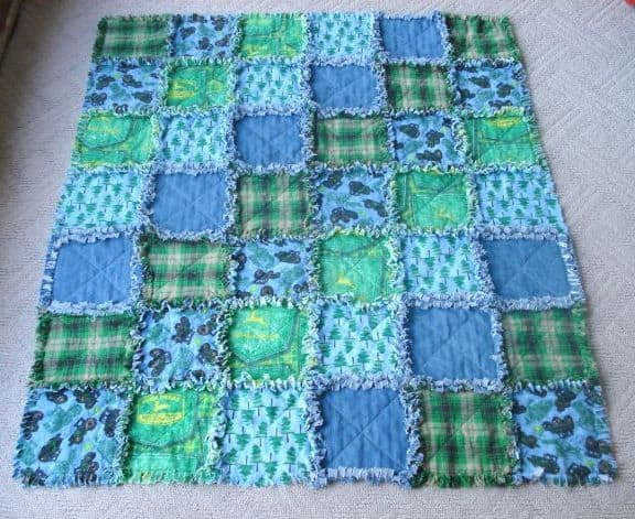 Baby Rag Quilt With Easy Video Tutorial | The WHOot : rag quilts for baby - Adamdwight.com