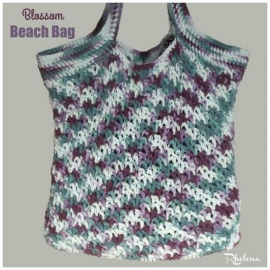 Blossom Beach Bag Free Crochet Pattern