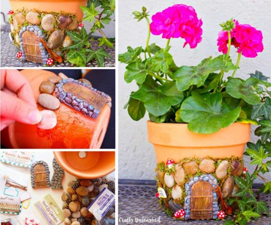 Clay Pot Fairy Door Planter