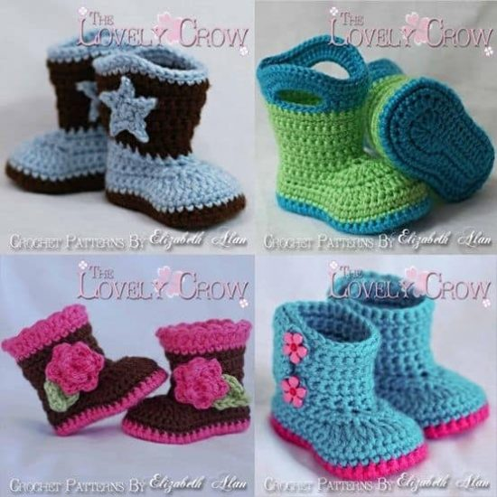Cowboy Booties Crochet Patterns