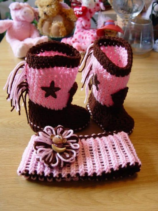 Cowgirl Crochet Booties Pattern