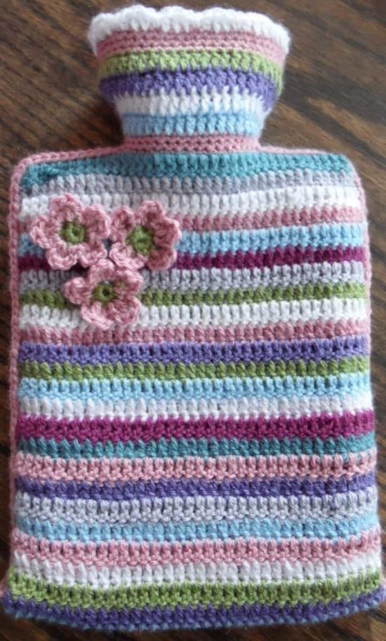 Crochet Hot Water Bottle Free Pattern