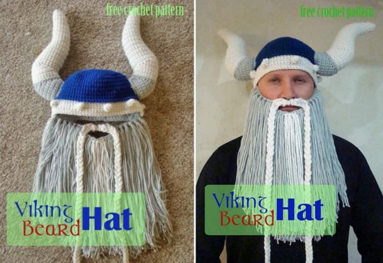 a20246b4aef Crochet Viking Hat With Beard Free Pattern Video Tutorial