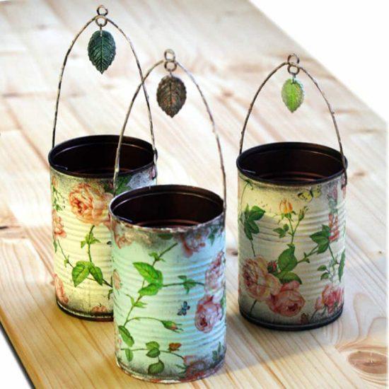 Decoupage Tins