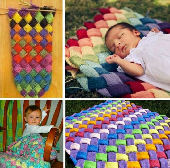 Entrelac Baby Blanket Free Pattern
