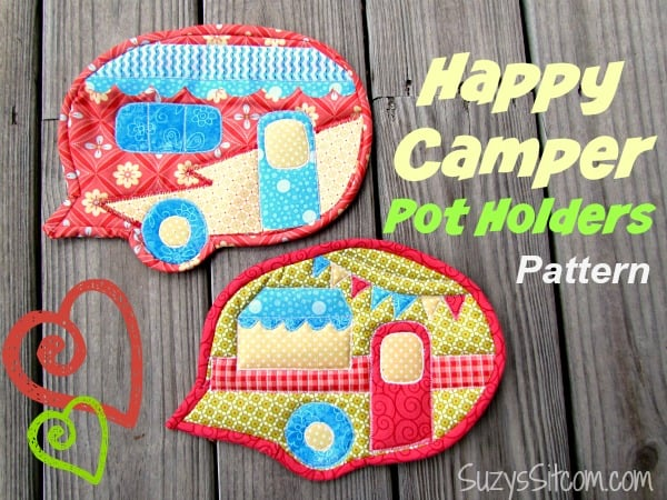 Happy Camper Pot Holders Free Pattern