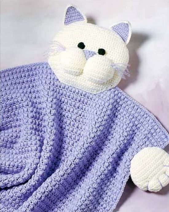 Kitty Blanket Free Crochet Pattern