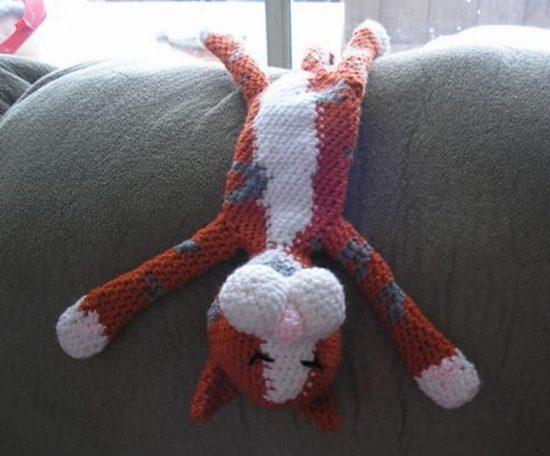 Laid back Cat Crochet Pattern