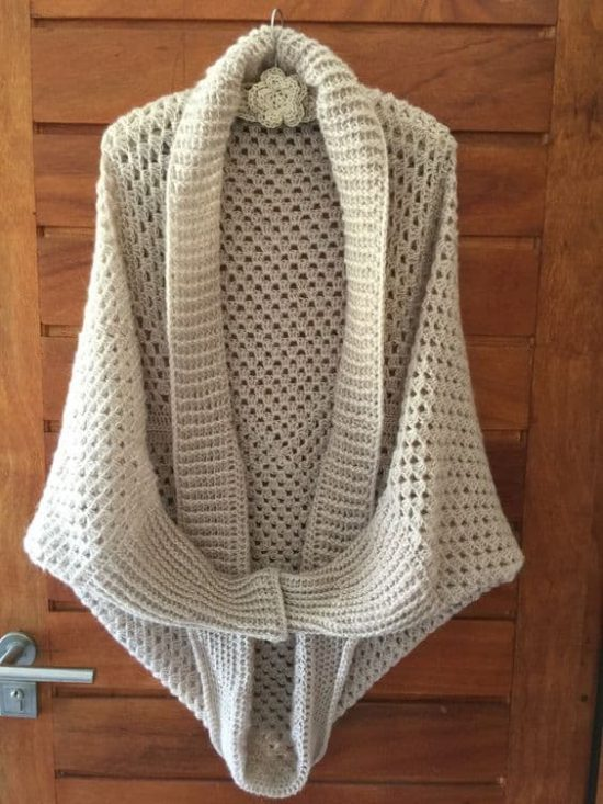 ff9c60a5d Long Sleeved Crochet Granny Shrug Cocoon - find a free pattern on our site
