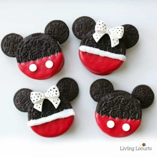Mickey and Minnie Mouse Oreo Pops
