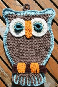 Owl Pot Holder Free Crochet Pattern