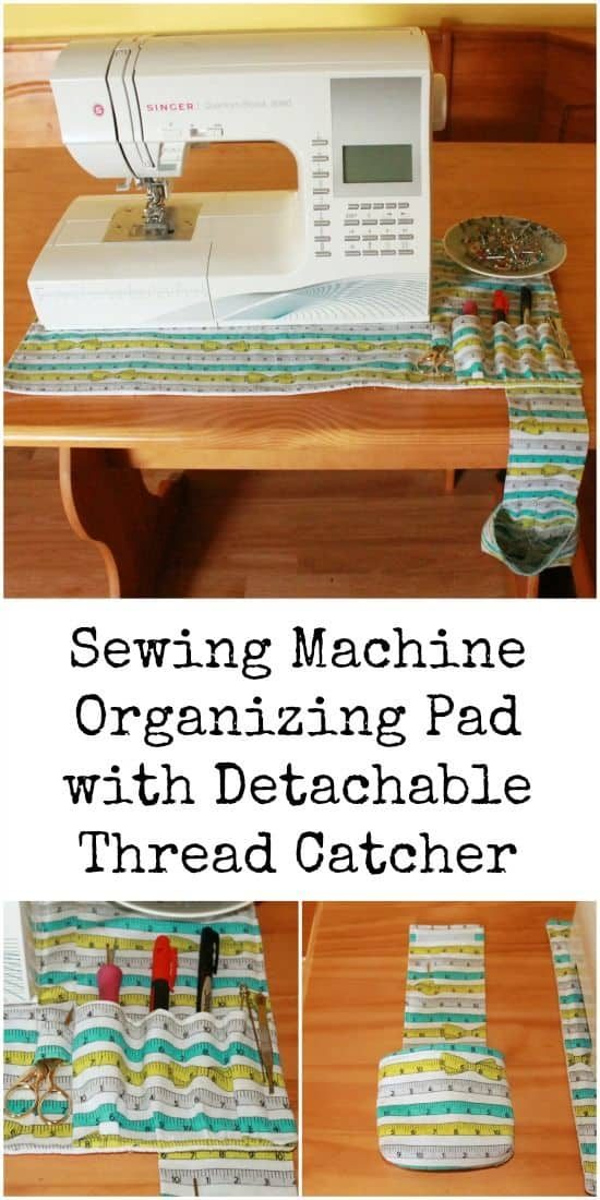 Sewing Machine Organising Pad with Detachable Thread Catcher