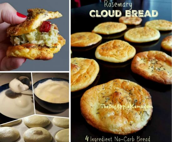 The Best 4 Ingredient No Carb Cloud Bread