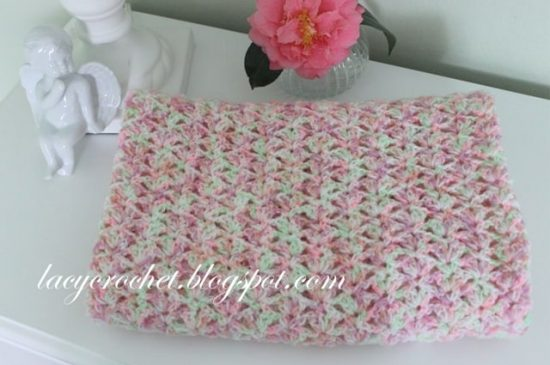 Tiny Tulips Afghan Blanket Free Crochet Pattern