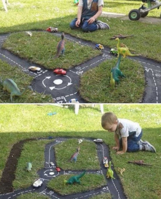 Backyard Race Car Track An Easy DIY | The WHOot