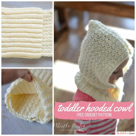 Toddler Hooded Cowl Free Crochet Pattern