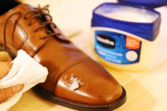 Touch up scuffed shoes or heels with Vaseline