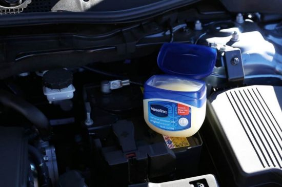 Use Vaseline to protect your car battery from corrosion