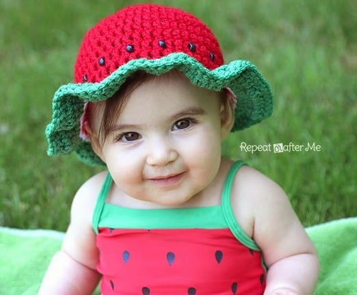 Watermelon Crochet Hat Free Pattern
