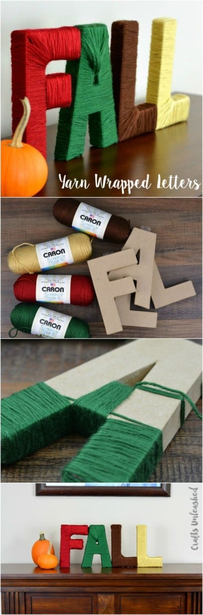 Learn How To Make Gorgeous Yarn Wrapped Letters The Whoot