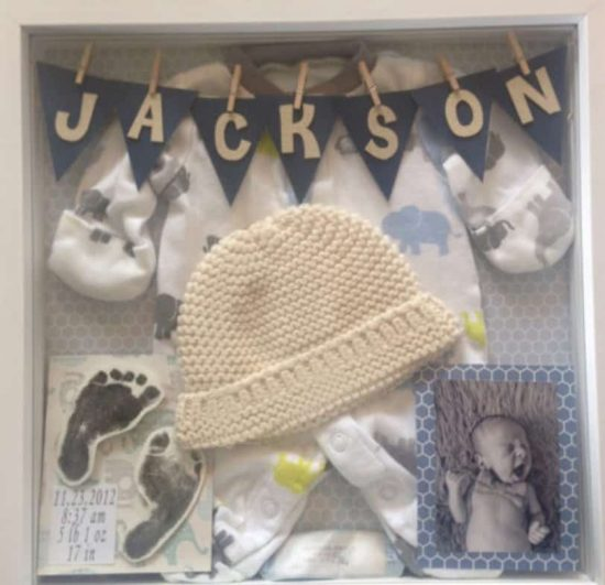 new baby shadow box ideas diy video instructions. Black Bedroom Furniture Sets. Home Design Ideas