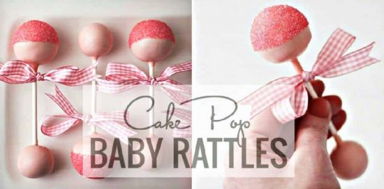 how to make baby rattle cake pops