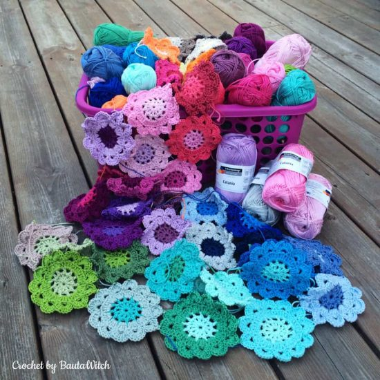 Crochet Japanese Flowers Free Pattern