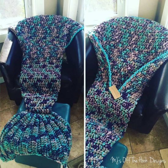 Crochet Mermaid Tail Afghan Blanket Pattern