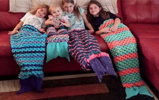 Crochet Mermaid Tail Blanket Free Patterns