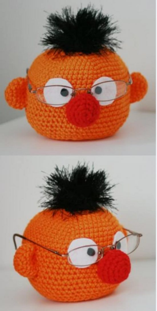 Ernie Crochet Glasses Holder Free Pattern