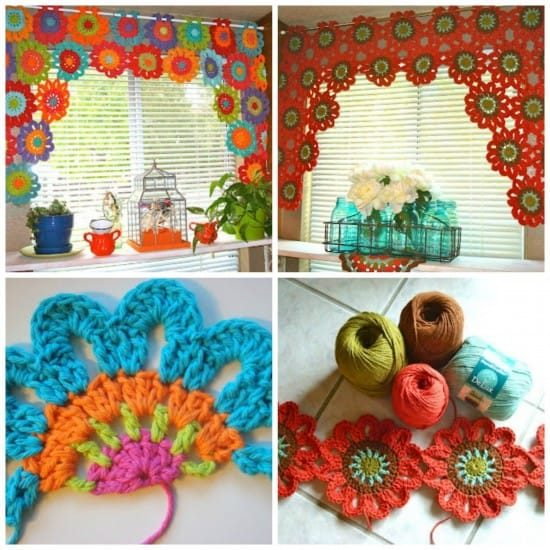 Flower Power Valance Free Crochet Pattern